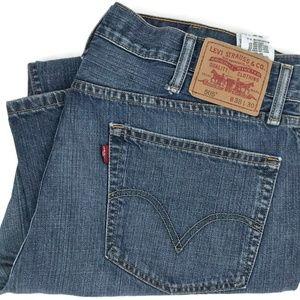Levi's 505 Straight Fit Leg Denim Jeans Size 38x30